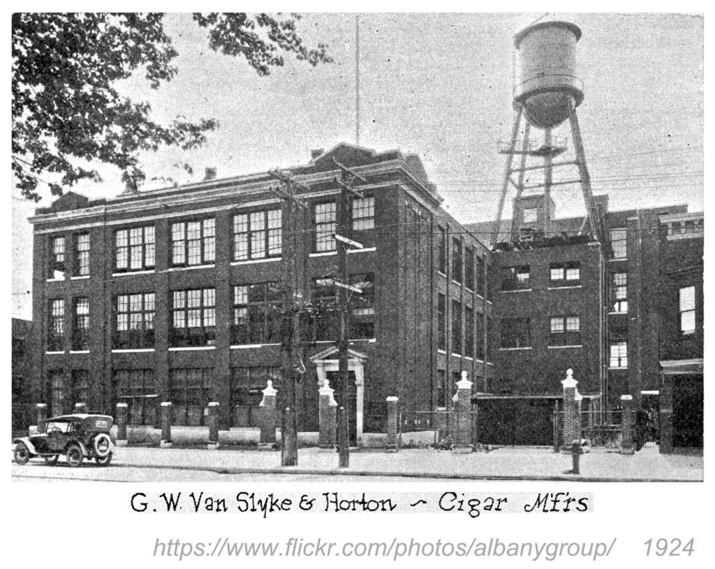 Van Slyke & Horton factory 1924