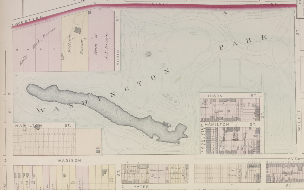 1876 Hopkins map of Washington Park