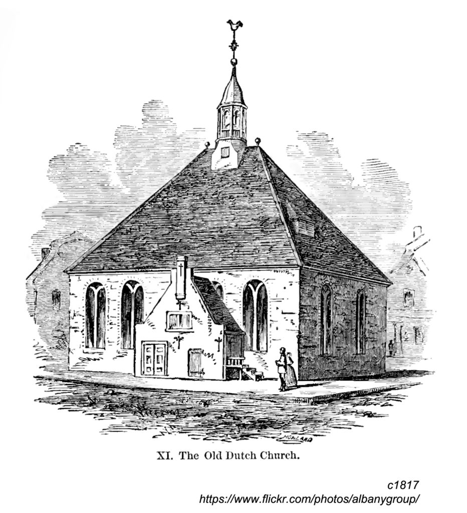 A view of the 1715 Dutch Church in Albany
