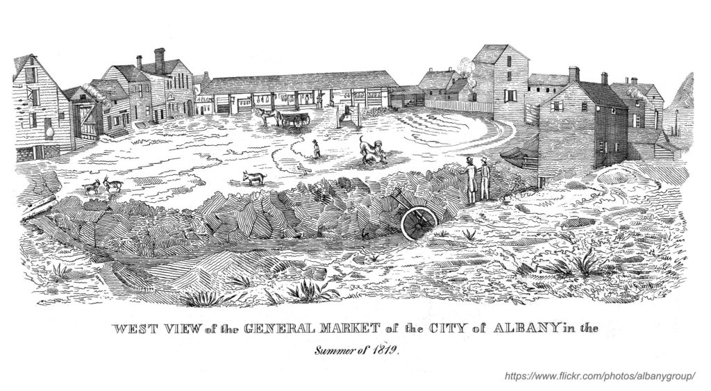 A view of the Center Market in 1819.