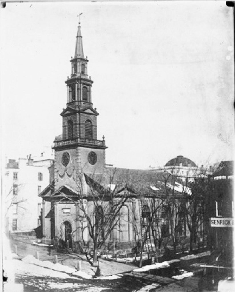 The Philip Hooker-designed St. Peter's in the late 1850s