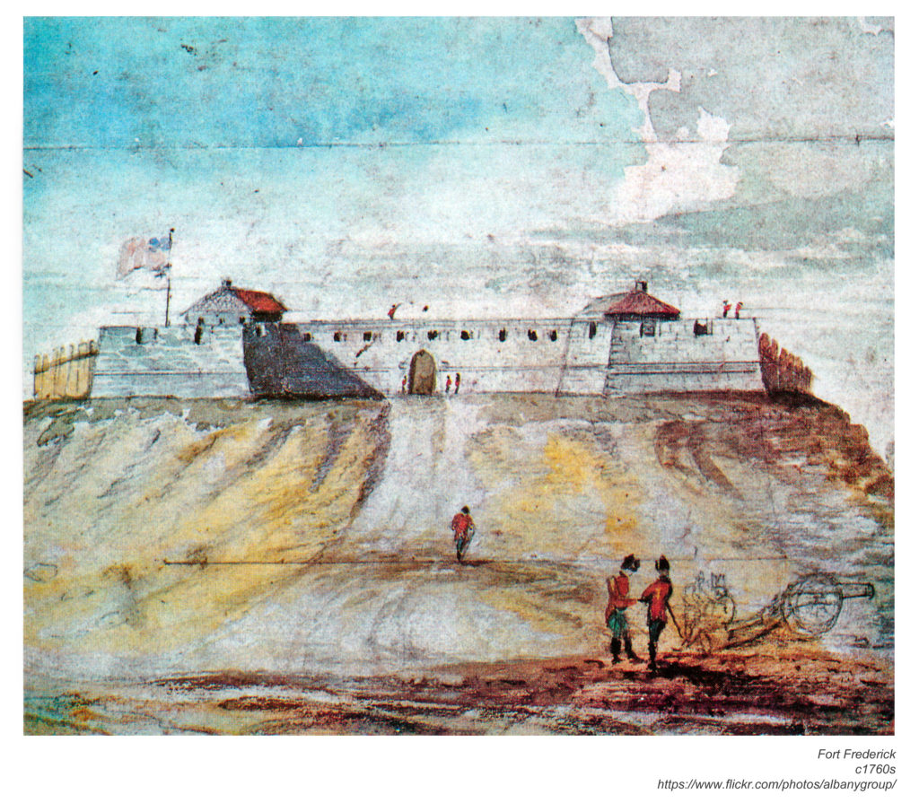 Watercolor of Fort Frederick, circa 1760s